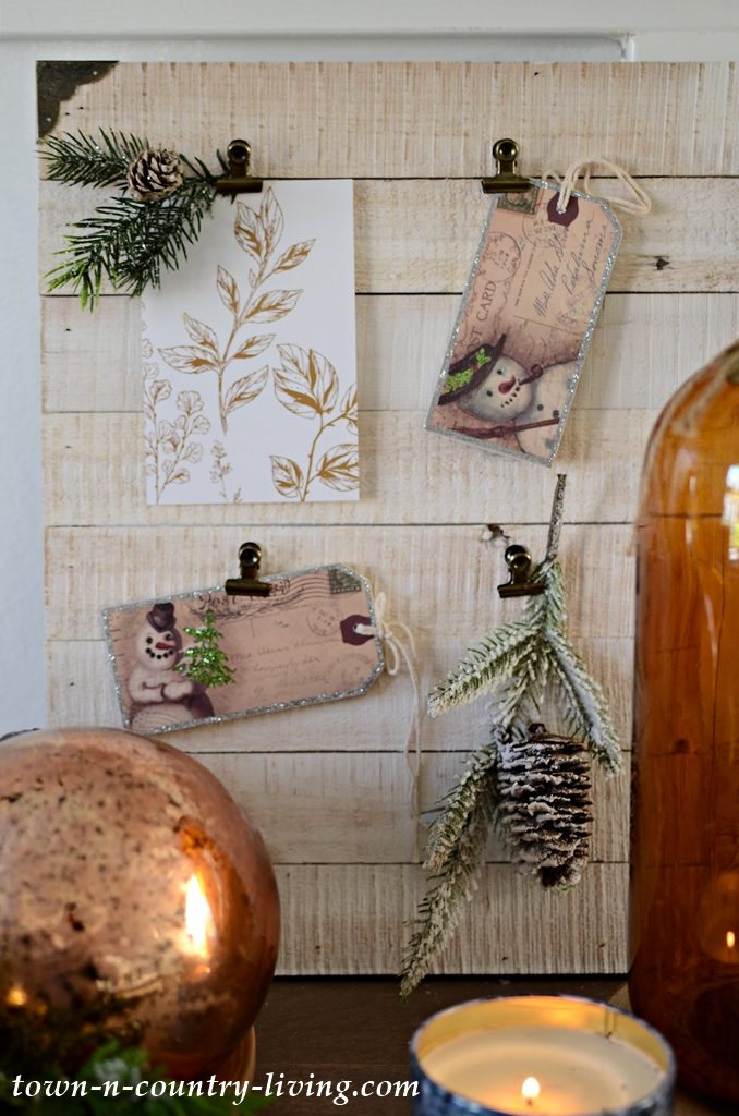 Neutral Vintage Christmas Vignette