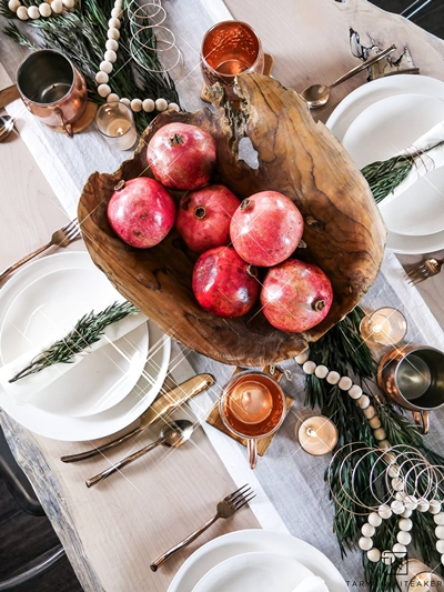 Christmas Table Setting by Taryn Whiteaker
