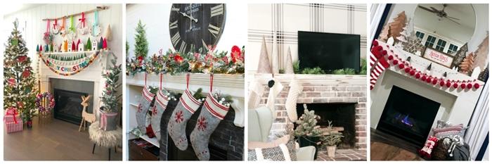 Seasonal Simplicity Christmas Mantel
