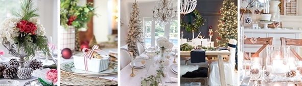 Styled + Set Christmas Table Settings and Entertaining