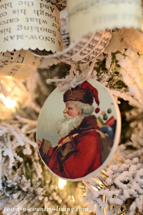 photo relating to Free Printable Vintage Christmas Sheet Music identify 8 Traditional Santa Ornaments: Cost-free Printable - City State