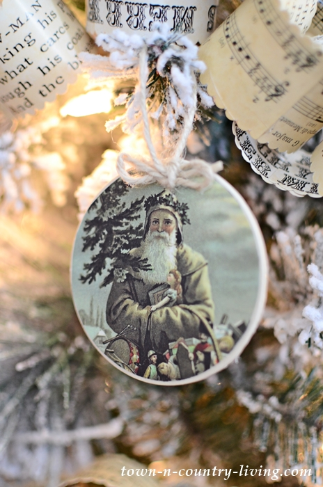 Vintage Santa Christmas Ornaments