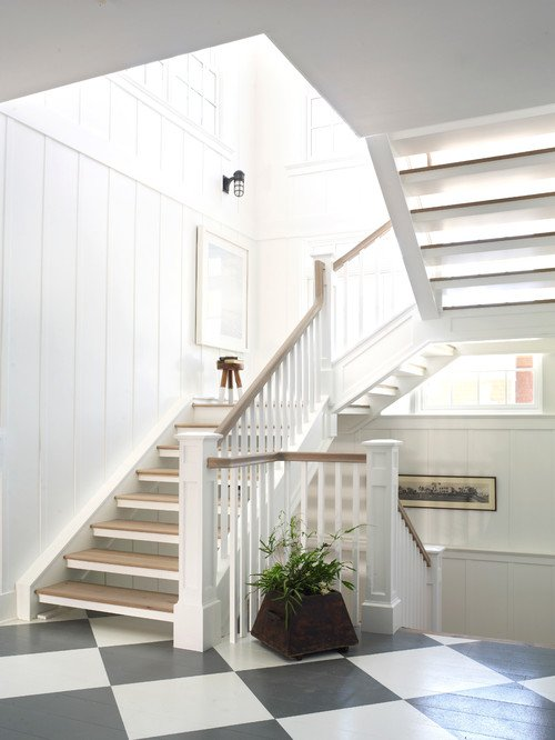 Beach Style Open Staircase
