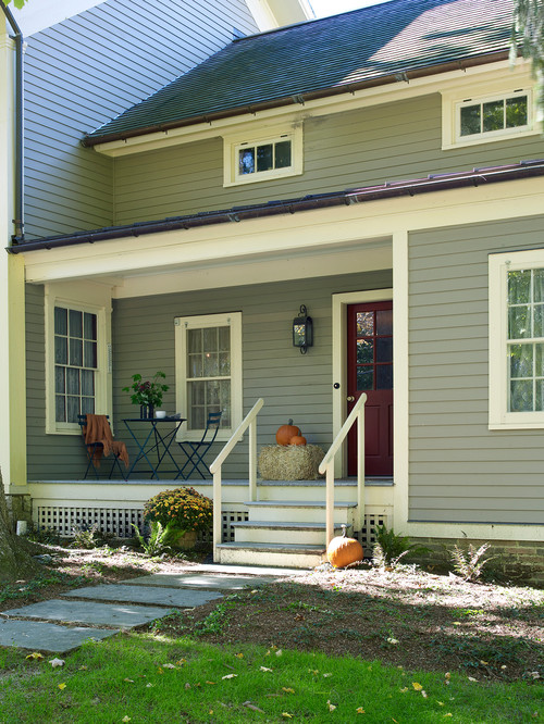Vintage Farmhouse with Clapboard Siding