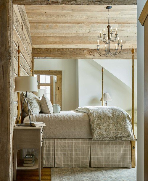 Rustic Farmhouse Bedroom in Neutral Tones