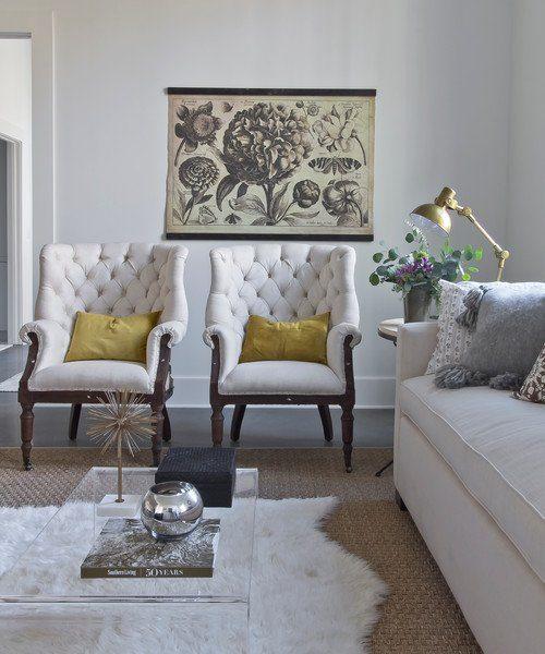 Scandinavian Style Loft with Neutral Decor Living Room