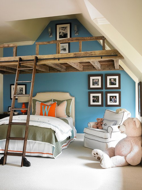 Kids Bedroom with Loft and Ladder