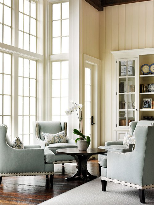 Light Blue and Cream Living Room
