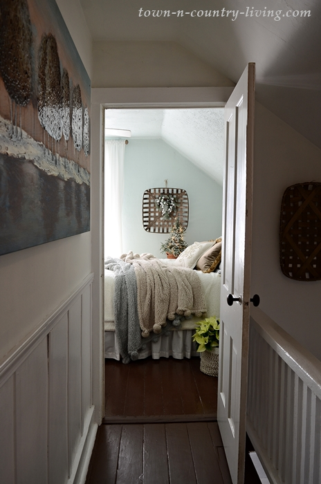 Country Style Christmas Bedroom