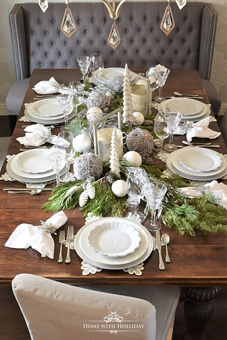 Winter White Table Setting by Home with Holliday
