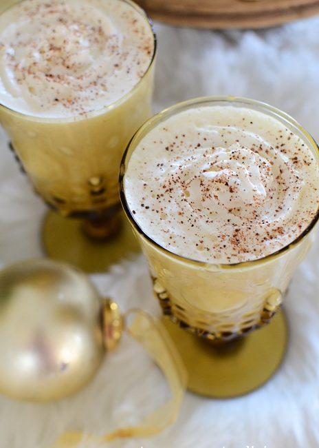 Serve homemade eggnog for dessert after your holiday meal