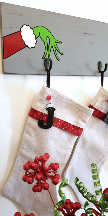 Grinch Inspired Stocking Holder from Michelle James Designs