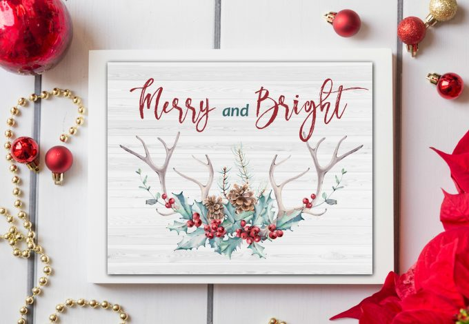 Watercolor Christmas Printables by My Wee Abode