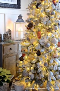 Nighttime Country Style Christmas Home Tour
