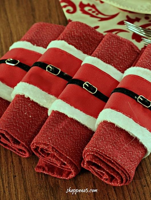 Santa Napkin Rings from Shoppe No. 5