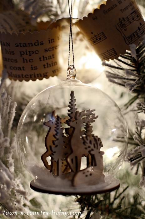 Snow Globe Reindeer Ornament
