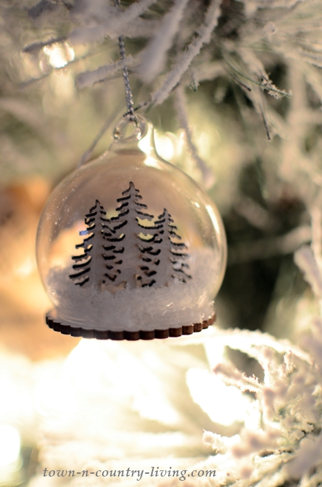 Snow Globe Christmas Tree Ornament