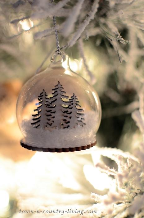 Snow Globe Christmas Tree Ornament