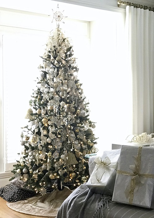 Snowy Glam Christmas Tree by The Chelsea Project