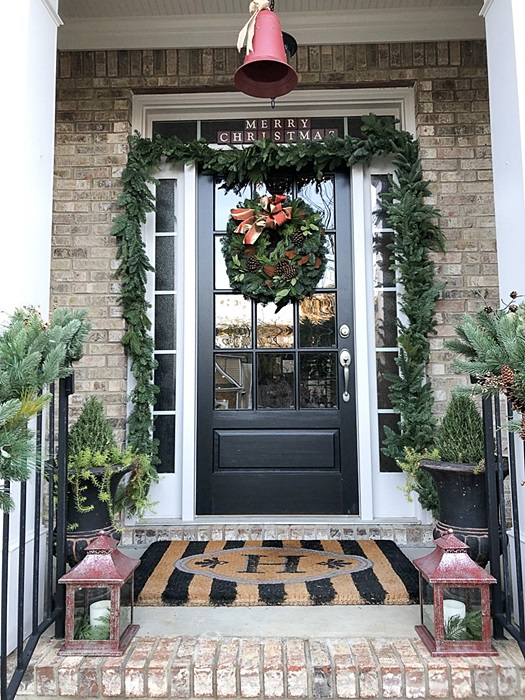 Traditional Christmas Porch from Southern Hospitality