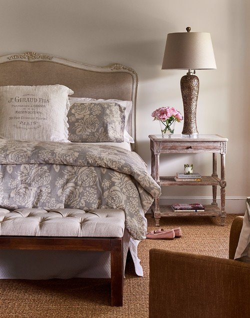 Neutral French Country Bedroom