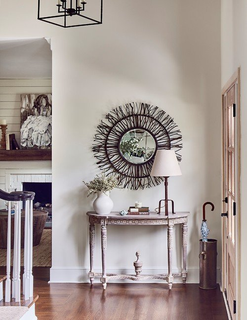 Neutral Farmhouse Entryway in North Carolina Home