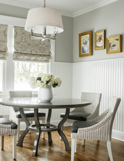 Bead Board in a Breakfast Nook