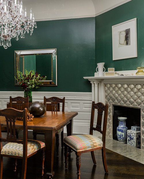 Dark Dining Room: Decorate With Dark Green To Create Cozy Rooms