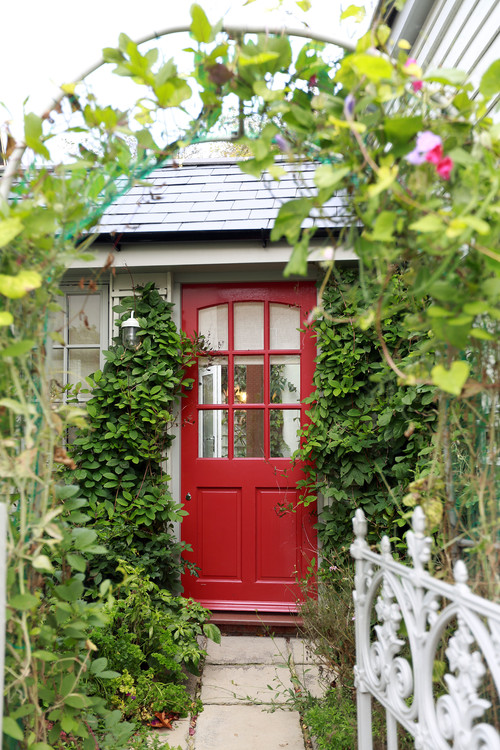Sweet Cottage House with Red Front Door