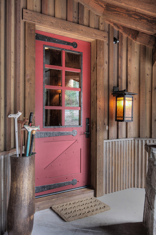 Rustic Red Front Door