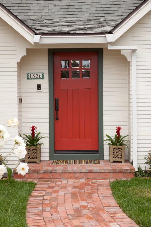 Traditional Red Front Door
