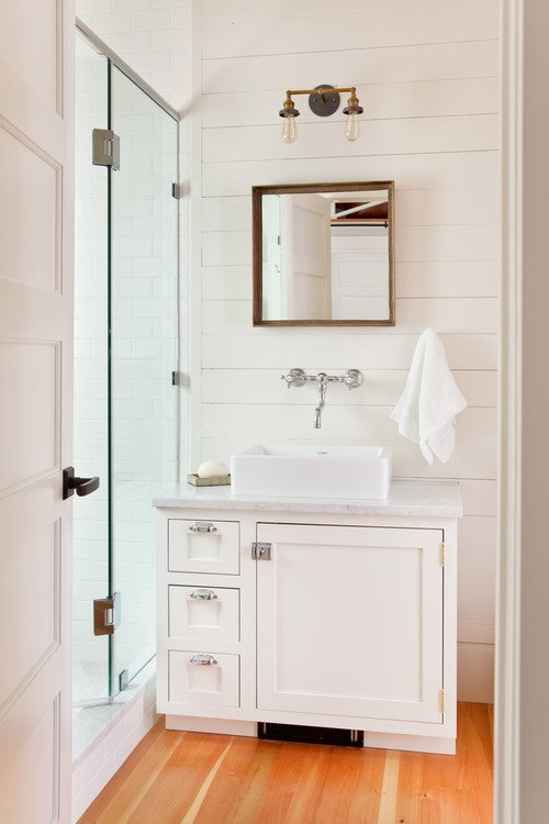 White Modern Country Bathroom