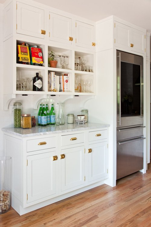 White Kitchen Cabinets and Light Wood Floor