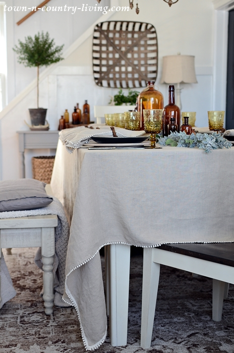 Natural Linen Table Cloth from Magic Linen