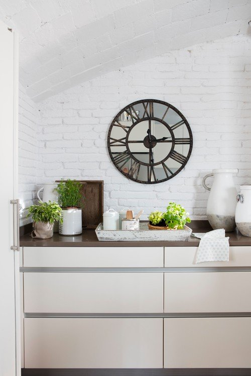 Small Space Kitchen in Spanish House in the City
