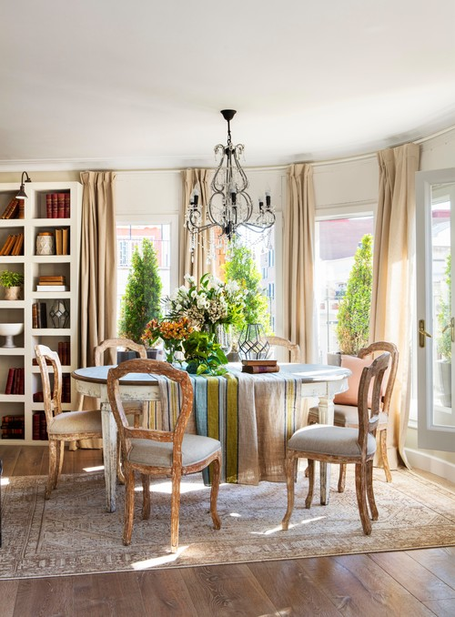 Colorful Spanish Dining Room with City View