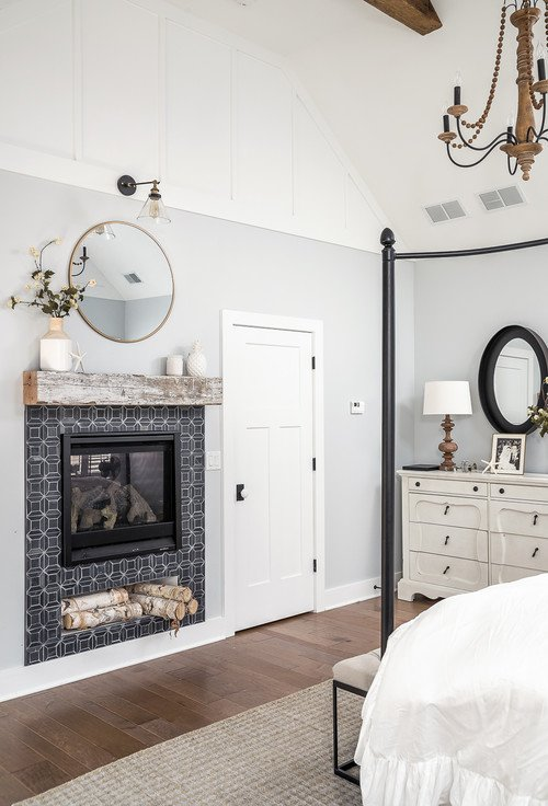 Farmhouse Style Bedroom with Canopy Bed