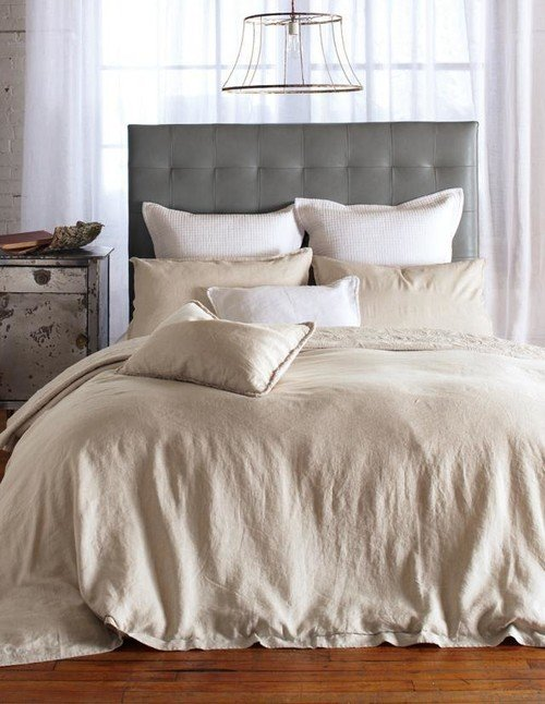 Neutral Bedroom with Natural Linen Bedding