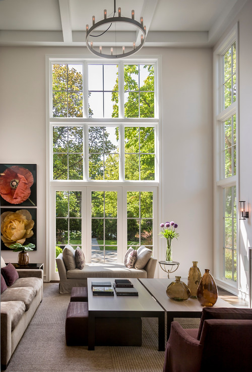 Living Room with Garden View