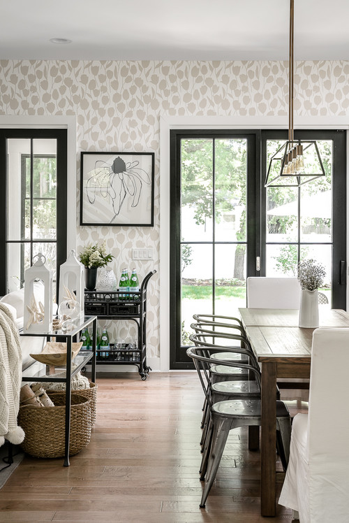 Farmhouse Style Dining Room in Chicago Suburbs
