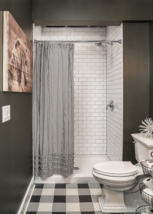 Black and White Modern Farmhouse Bathroom