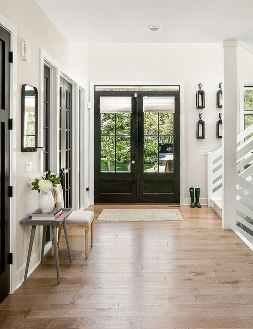 Modern Farmhouse Entry with Double Doors