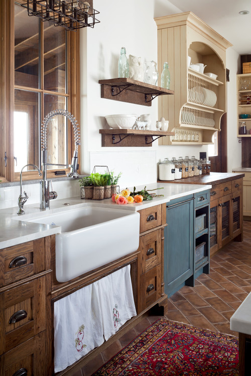 Rustic Kitchen with Farmhouse Sink