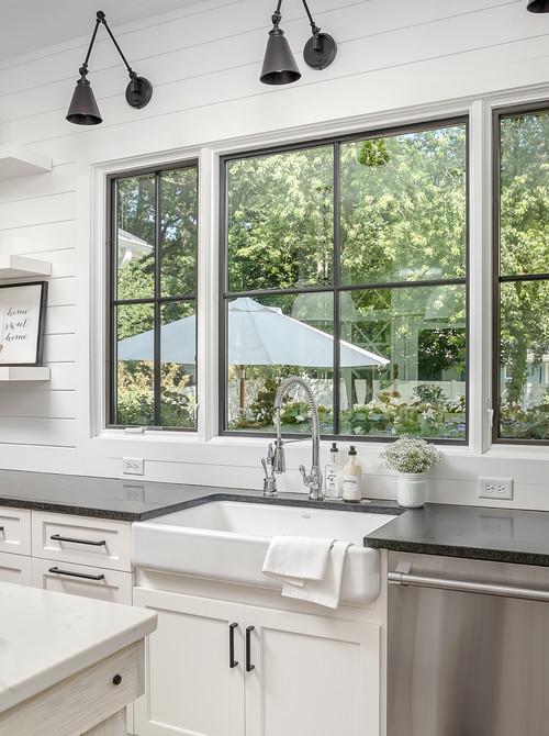 Large White Farmhouse Kitchen