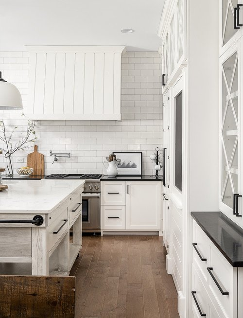 Large White Farmhouse Kitchen