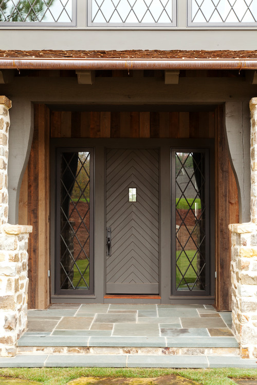 Front Door with Mullion Window Sidelights
