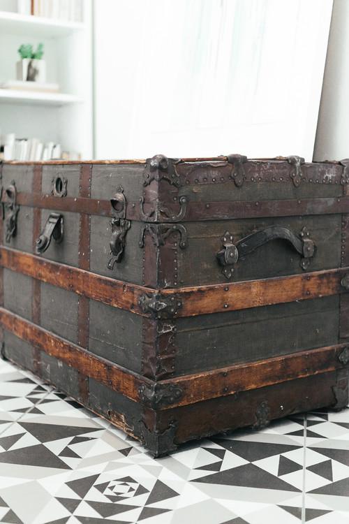 Unique Vintage Steamer Trunk