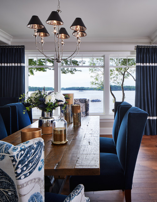 Dining Room with a Lakefront View