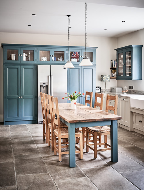 Country Blue Farmhouse Kitchen