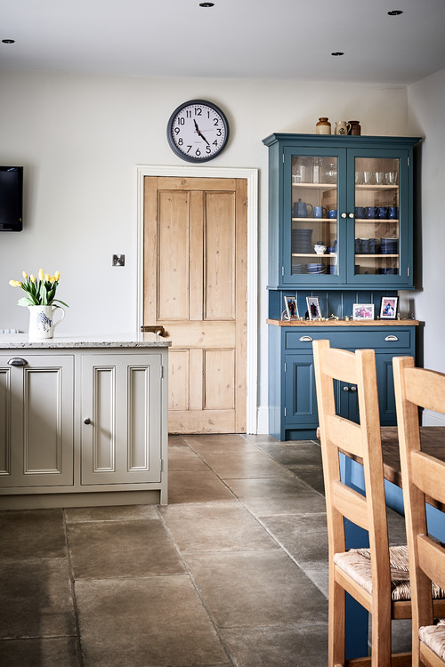 Country Blue Farmhouse Kitchen